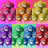 Happy Eid Mubarak Balloons – 40 Pack - 5 Colours (Blue, Greenblue, Gold, Pink, And Purple) – For Eid Al Fitr & Eid Al Adha - With Eid Mubarak Print