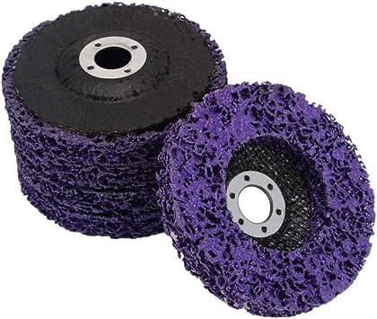 "2Pcs 5/""Poly Strip Disc Abrasive Wheel For Metal Surface Polishing Rust Removel"