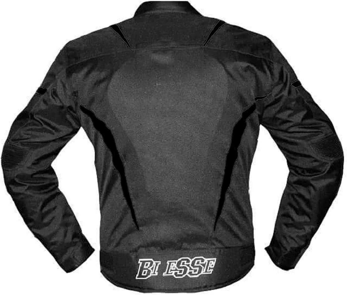 Imperm/éable Protections CE Biesse Veste Moto Touring pour homme R/églable Noir//blanc Doublure thermique M noir//blanc
