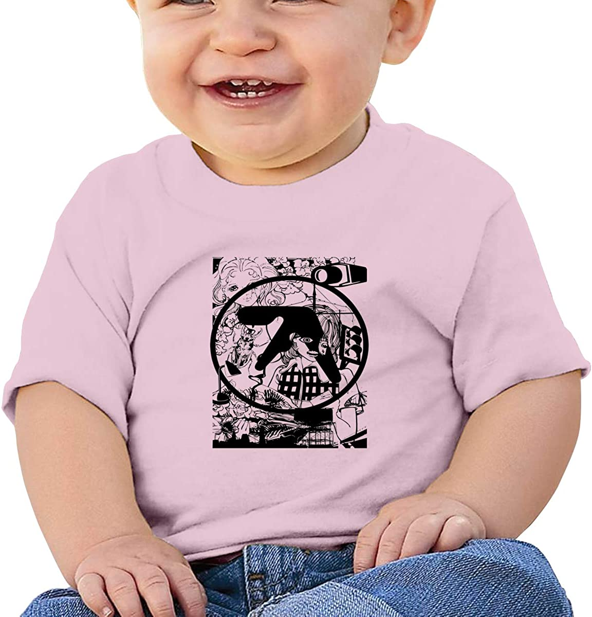 Wokeyia Baby Aphex Twin Music Black Tshirts Breathable T-Shirt for Baby Boy