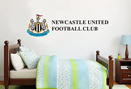 Newcastle united football club name crest wall sticker set official merchandise decal football vinyl