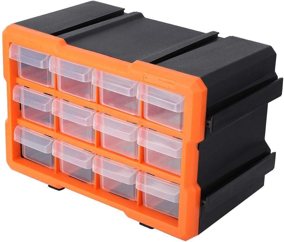 12 rejillas Herrajes para cajones Caja de almacenamiento de piezas peque/ñas Organizador de gabinete de almacenamiento
