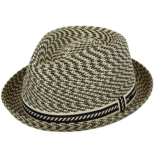 Bailey of Hollywood Men, Women Mannes Braided Trilby Natural Multi - Fedora Braid Hat Trilby