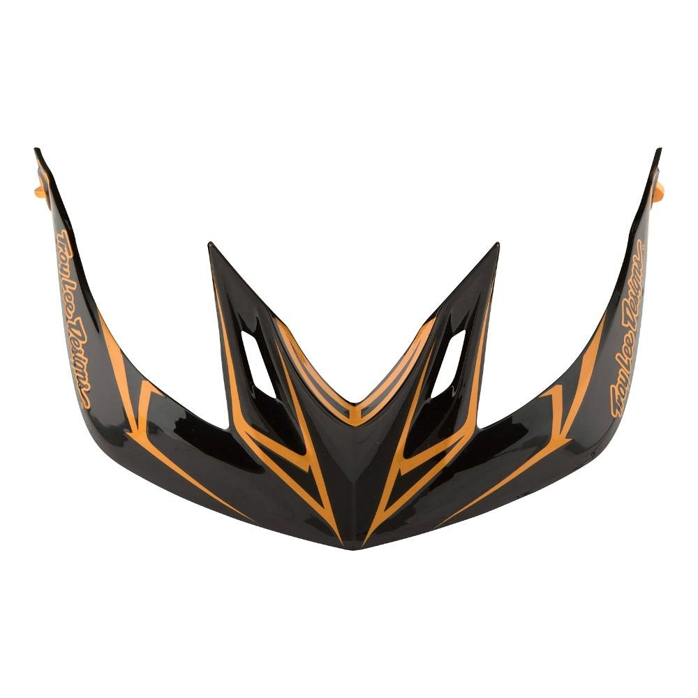 Troy Lee Designs Adult A2 Visor Pinstripe BMX Helmet Accessories - Black/Gold / One Size