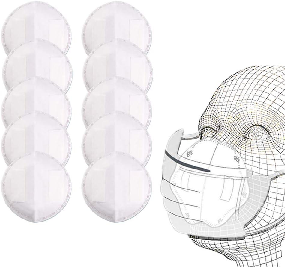 Qeedio Junta de filtro de m/á-s-cara desechable universal 3 capas Almohadilla de boca de repuesto Seguridad suave y c/ómoda Almohadillas internas protectoras transpirables de inserto no tejido