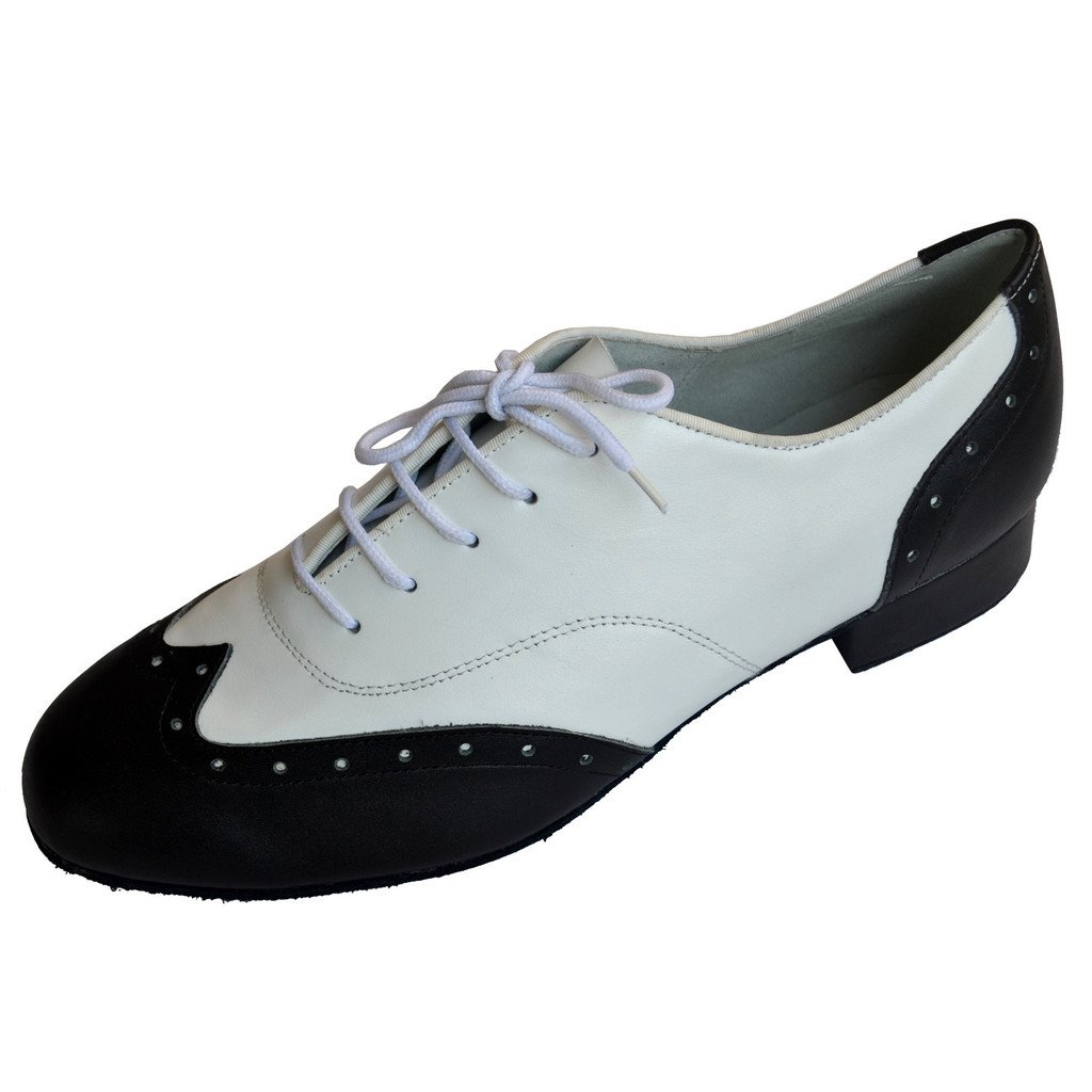 Jig Foo Herren Standard Tanzschuhe, Mehrfarbig - schwarz weiß - Größe  46