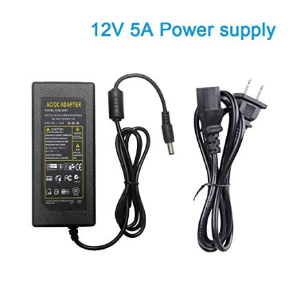 Enjoyable Ac 100V 240V To Dc 12V 5A Us Plug Switching Power Supply Adapter For Pc Power Cord Rgb Led Strip Light Lcd Monitor Dc Converter Power Transformer Dvr Wiring Digital Resources Remcakbiperorg