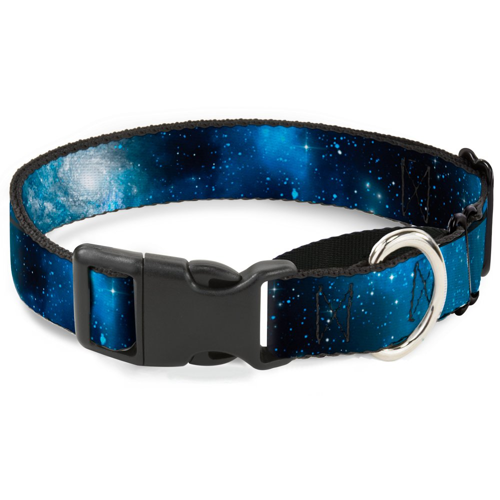 Buckle-Down Galaxy bluees bluees Martingale Dog Collar, 1  Wide-Fits 9-15  Neck-Small