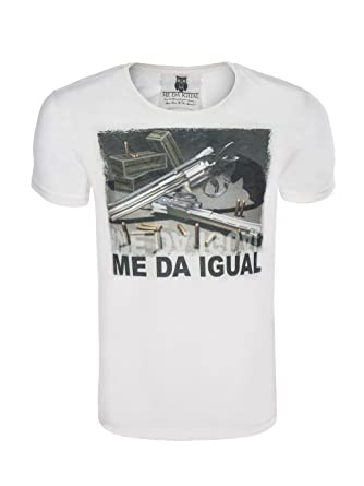 40c040ea543d51 Me Da Igual Herren T-Shirt mit Print  Amazon.co.uk  Clothing