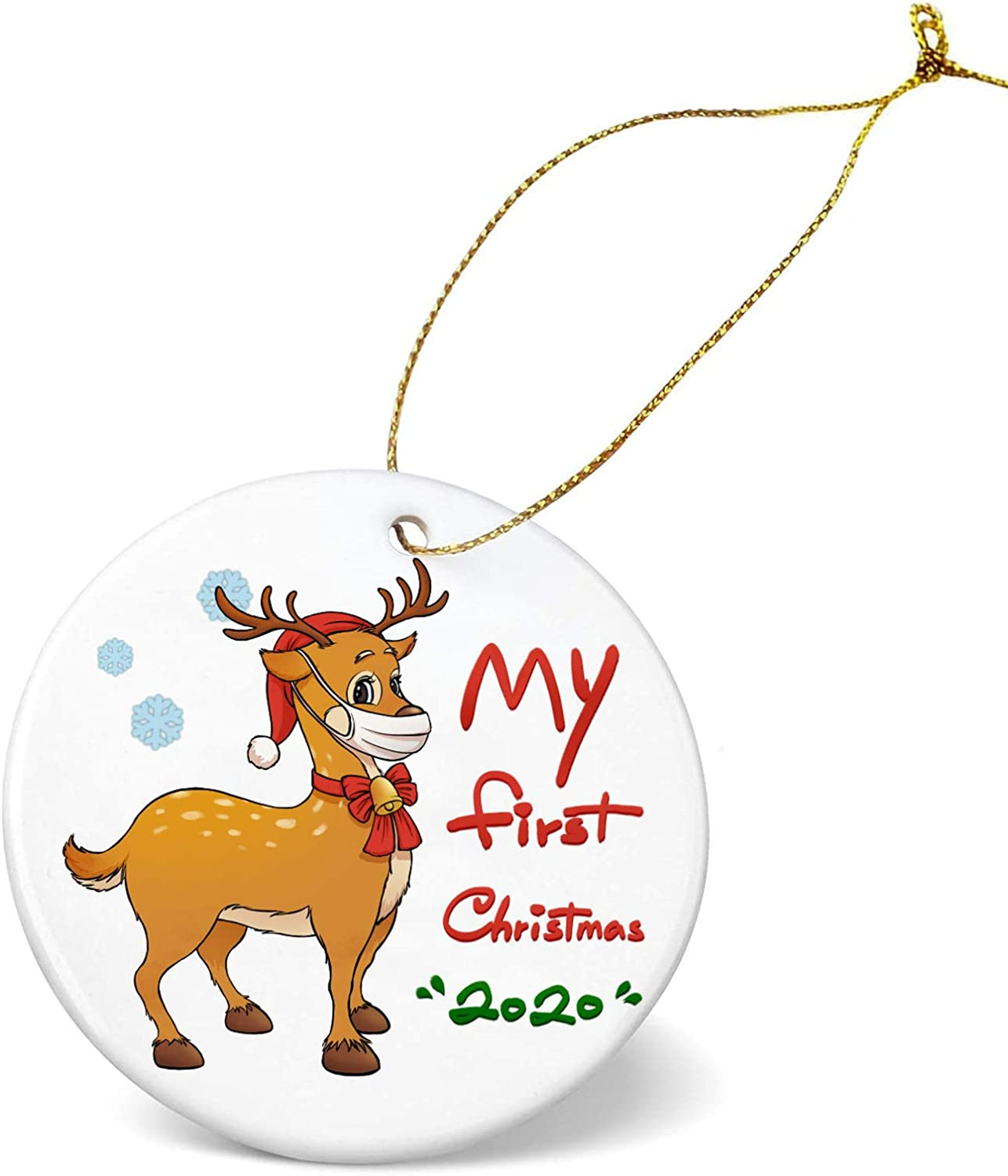 Christmas Ornaments 2020,My First Christmas 2020,Cute Elk Christmas Decorations, Friends Family, Home Indoor Outdoor Dress up Hanging Ornaments