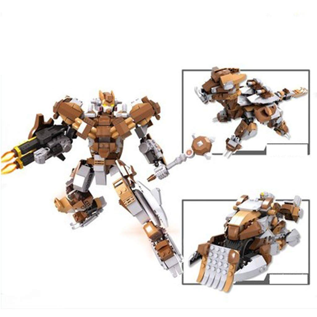 Hyzb Giocattoli educativi per Bambini Building Blocks Giocattoli Boutique Modelli di Robot Artigianato Regali (colore   Marronee)