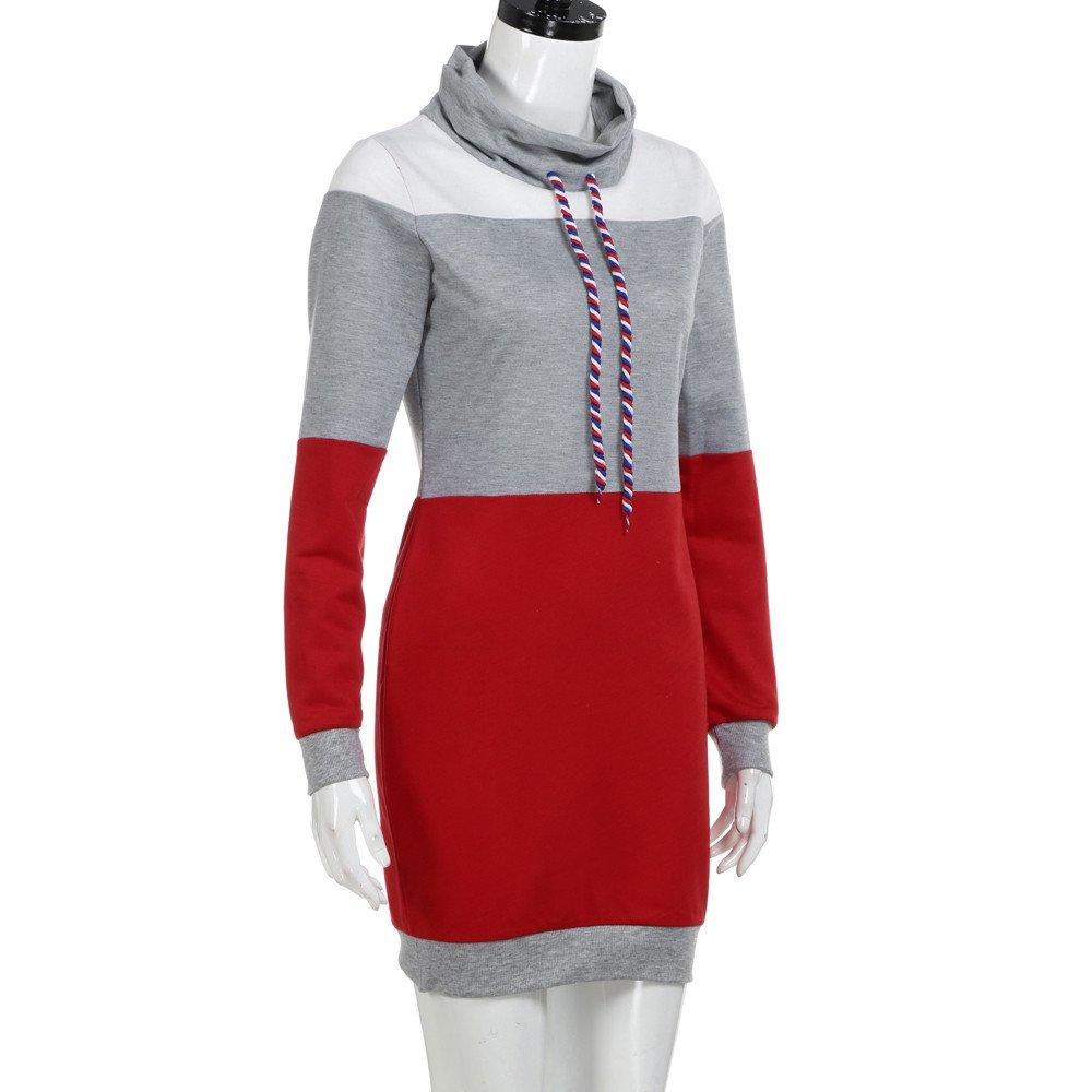 Amazon.com: 2019 Women Clothing,Ladies Girls Collared Long Sleeve Dress Ladies Casual Bodycon Short Mini Sundress (M, Gray): Electronics
