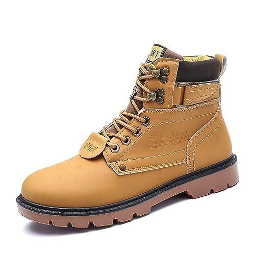 Botas Martin para Hombre Botines CláSicos Botas Altas CáLidas con Botas De Nieve CóModas Y De Felpa En MarróN Negro: Amazon.es: Zapatos y complementos