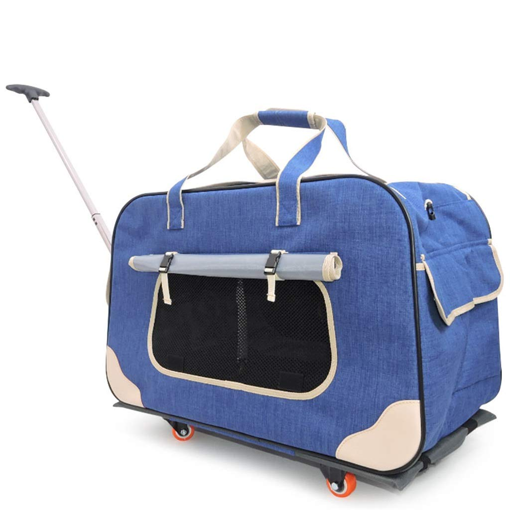 B Pet Bag Pet Trolley Bag Can Be Fully Enclosed Frosted 900d Out Dog Travel Carrier Four Seasons Available Red 24.2x13.7x15.3 Inches
