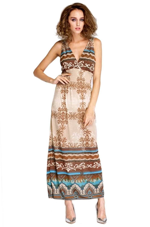LI'L BLACK DRESS Maxi Lace Back Womens Summer Bohemian V-Neck Long Beach Dress