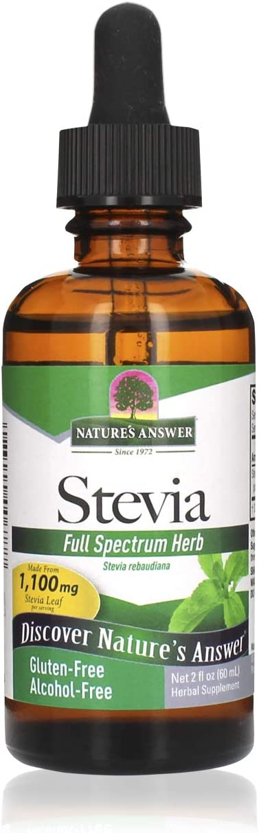 Nature's Answer Alcohol-Free Stevia Leaf Extract, 2-Fluid Oz Gluten and Alcohol Free Standardized Stevia Drops