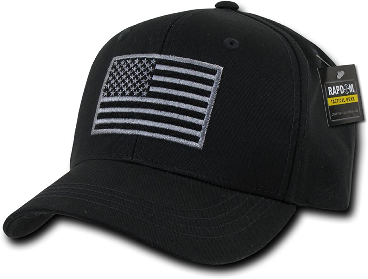 RAPDOM Tactical T76-USA-BLK Embroidered Operator Cap, Black: Clothing