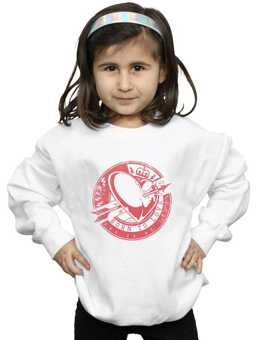Drewbacca Girls Born to Love Sweatshirt White 7-8 Years