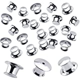 JANYUN 20 Pieces Metal Pin Backs Locking Backs