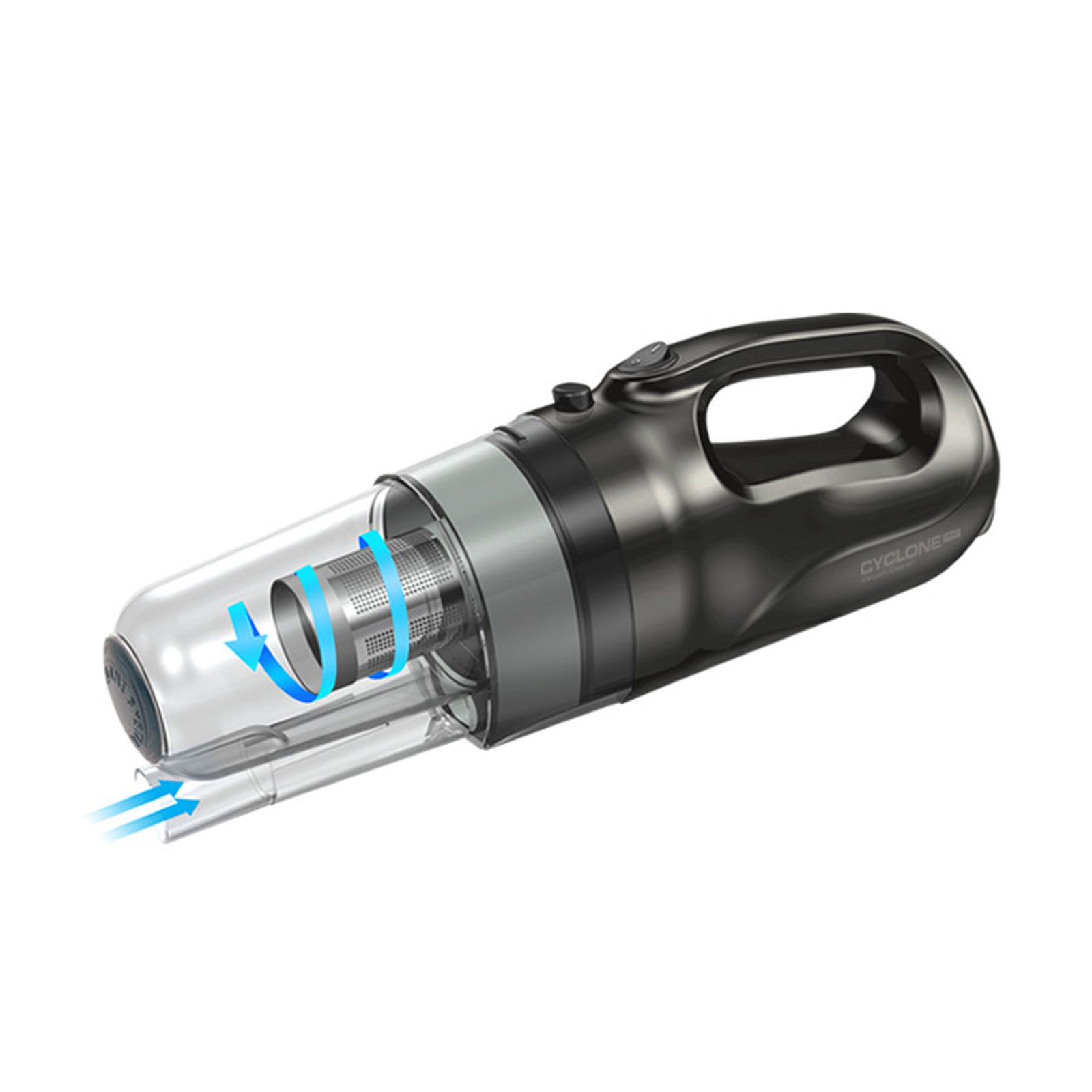 FOURING Pro Cyclone Suction Car Vacuum Cleaner 150W Power Cleaning Permanent Stainless Steel Filter with Pouch