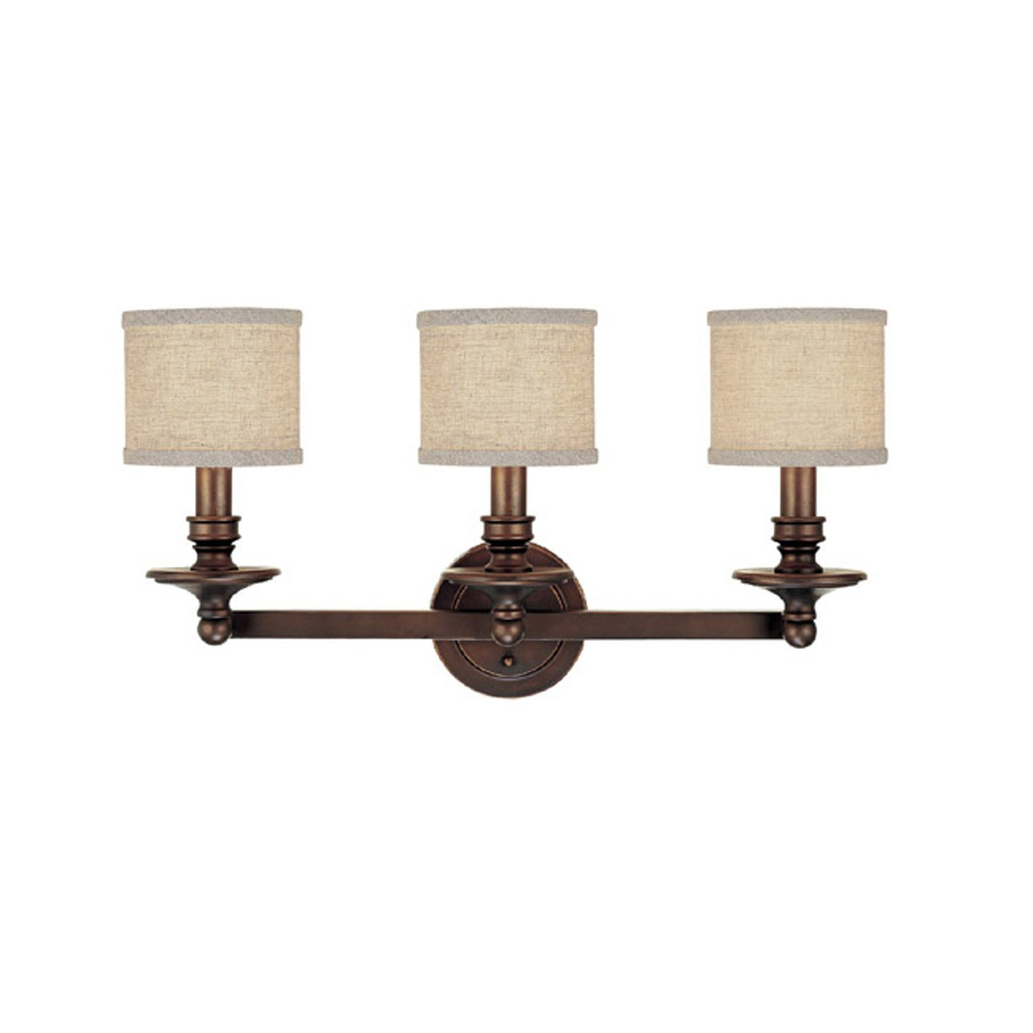 Capital Lighting 1238bb 450 Vanity With Beige Fabric Shades Burnished Bronze Finish Fixtures Com