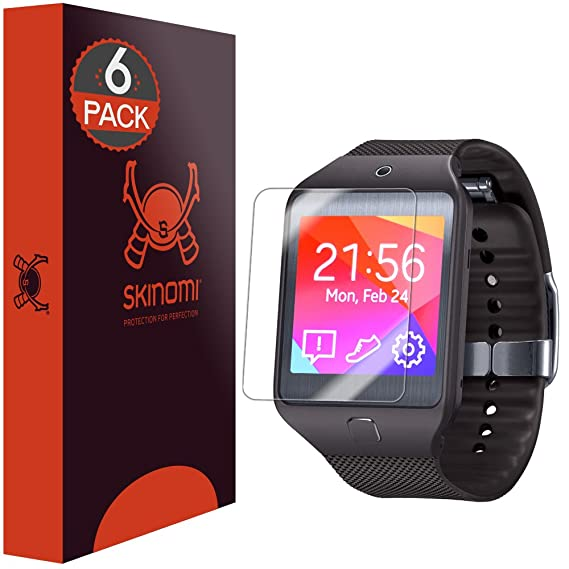Skinomi Screen Protector Compatible with Samsung Galaxy Gear 2 Neo (6-Pack) Clear TechSkin TPU Anti-Bubble HD Film