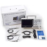 Hantek DSO4102C Multimetro digitale Oscilloscopio USB 100MHz 2 Canali 1GSa / s Display LCD 7 pollici Generatore di forme d'onda - Bianco