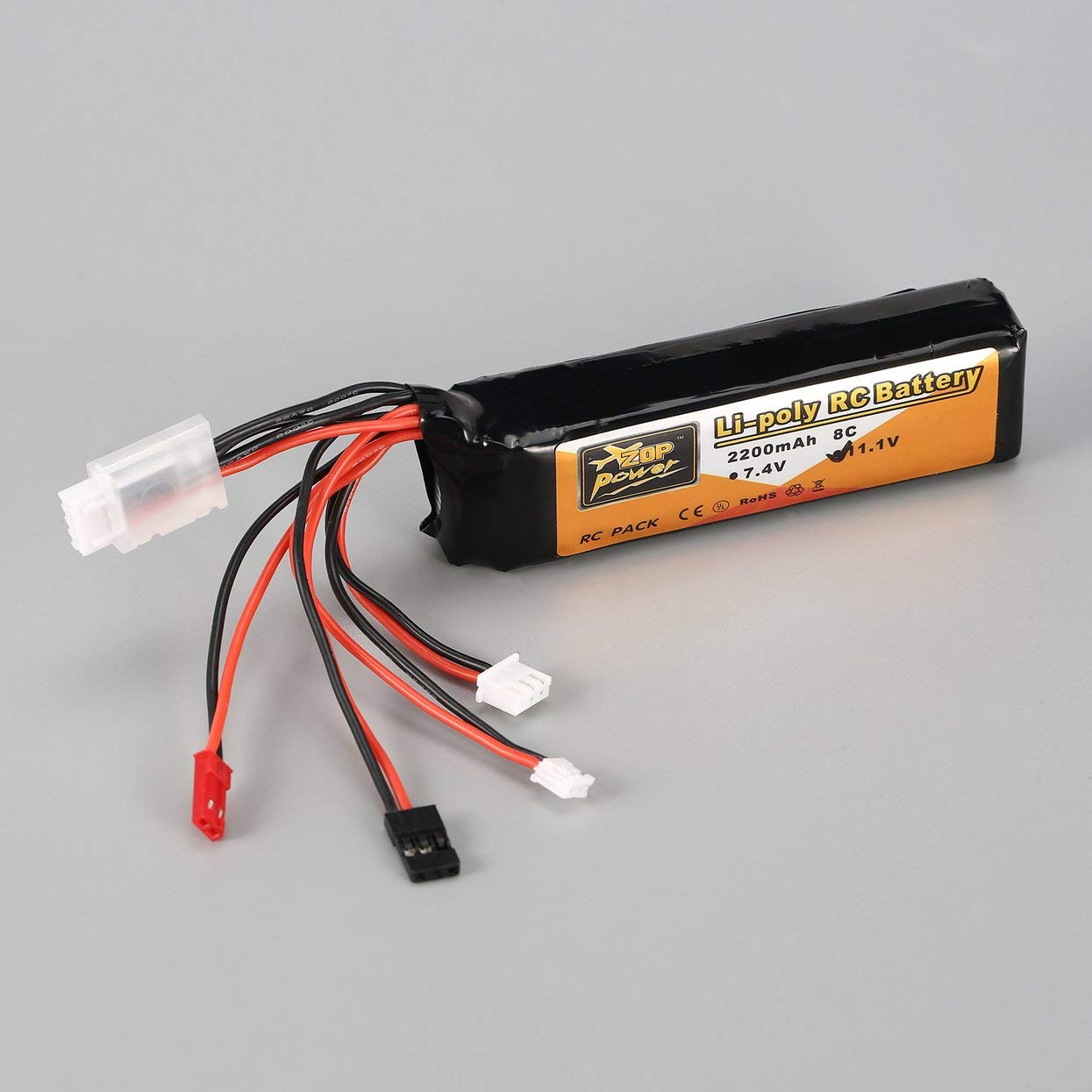 LoveOlvidoF ZOP Puissance 11.1V 2200mAh 8C 3S 3S1P Lipo Batterie JST JR Futaba Plug Rechargeable pour RC Drone H/élicopt/ère Quadricopt/ère /Émetteur