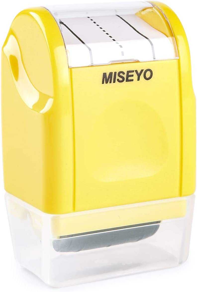 Miseyo Dashed Handwriting Lines Practice Roller Stamp - Yellow