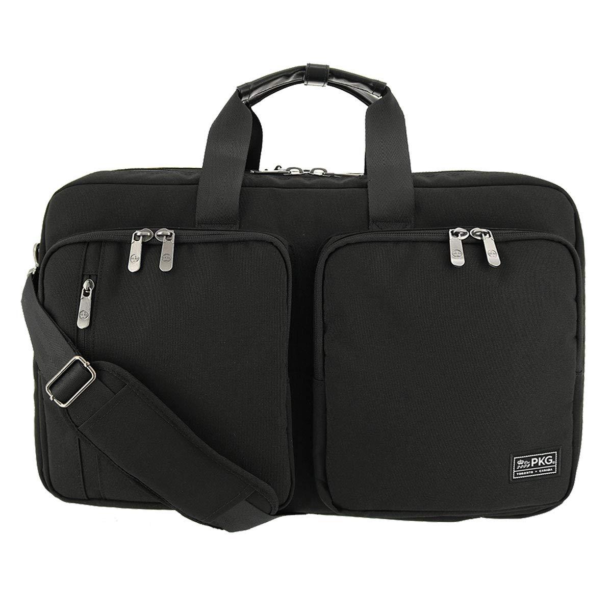[ピーケージー] ブリーフケース トレントン ビジネスバッグ 3WAY メンズ 20TR  【72】Black-Black B07KX28VWP