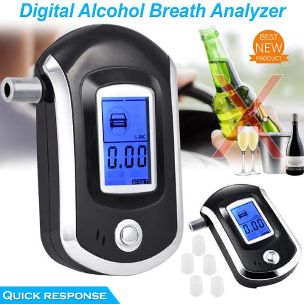 TAOtTAO Digital de LCD de policía de alcoholímetro de respiración de Prueba de Alcohol de Prueba de vorrichtungs Analizador Detector de Metales: Amazon.es: ...