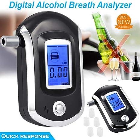 TAOtTAO Digital de LCD de policía de alcoholímetro de respiración de Prueba de Alcohol de Prueba