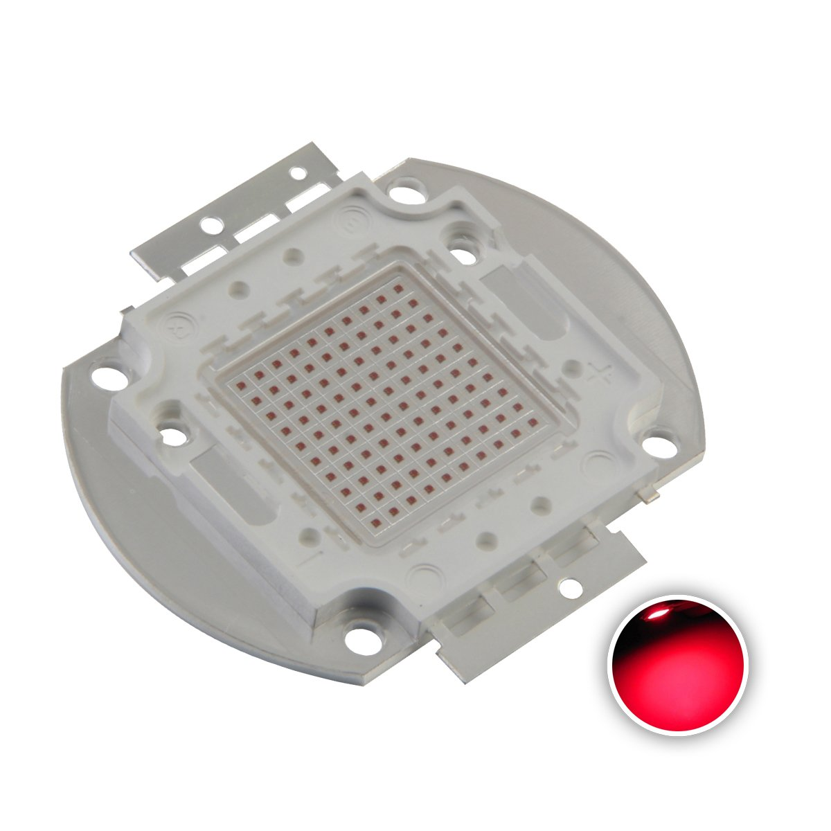 Chanzon High Power Led Chip 100W Red (3000mA/DC 20V-24V/100 Watt) Super Bright Intensity SMD COB Light Emitter Components Diode 100 W Bulb Lamp Beads DIY Lighting