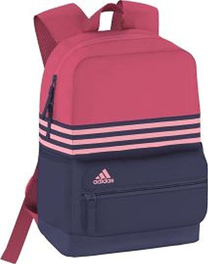 adidas ASBP 3S - Mochila para niño, Color Azul/Rosa/Fucsia, Talla