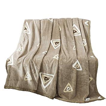 Manta de Franela Invierno Coral Fleece Engrosamiento Toallas Dobles Individuales sábanas cálidas (Color : Brown, Tamaño : 150 * 200cm): Amazon.es: Hogar