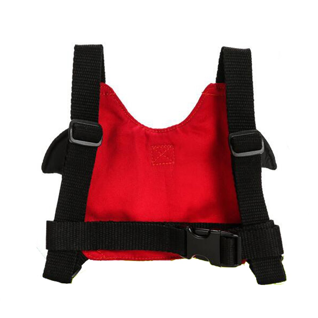 EPLAZA Toddler Walking Safety Bat Belt Harness with Leash Breathable (cotton red) by EPLAZA (Image #2)