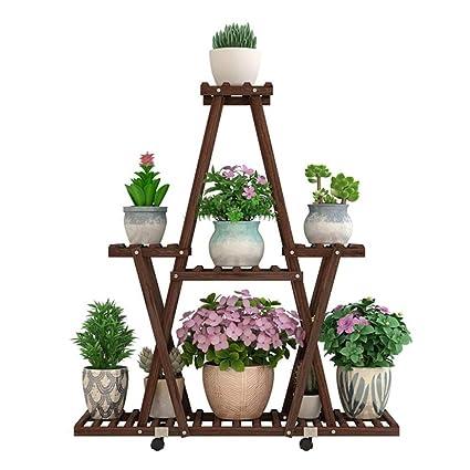 ACZZ Soporte para Plantas Soporte para Plantas Soporte de Madera para Exposiciones Decoración de Jardín Salón