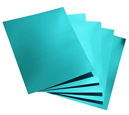Hygloss Products Metallic Foil Board Sheets - 8 5 x 11 Inches – Light Blue,  25 Pack