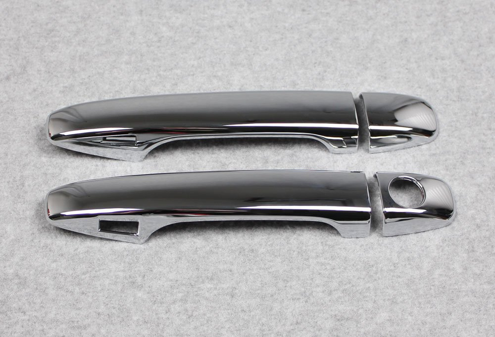 Chrome Door Handle Cover Trim Trims Fit For Subaru Outback//Forester 2015 2016 2017 2018 With Smart Key Hole