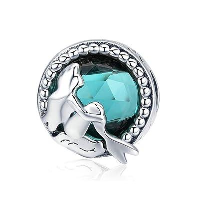 Cadeau De Noël Pour Fille.Reiko Sirène Océan925 Argent Charms Bricolage Perles Pour