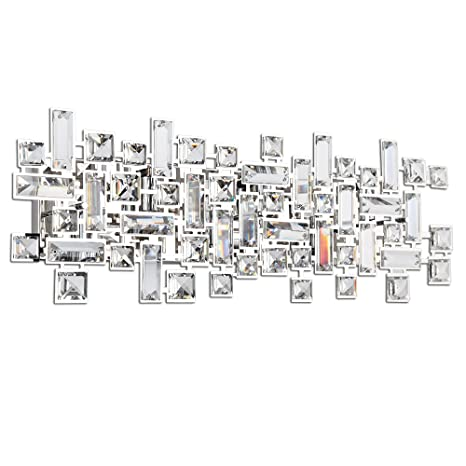 Paradigm Crystal Bathroom Vanity Lights In Polished Chrome Wall Light  Sconces (4 Lights 18 Inches