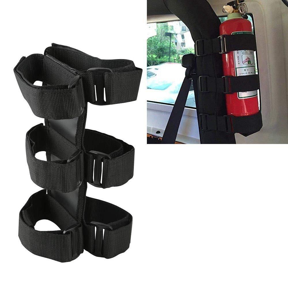 u-Box Roll Bar Fire Extinguisher Holder in Black for Jeep Wrangler JK YJ TJ JL