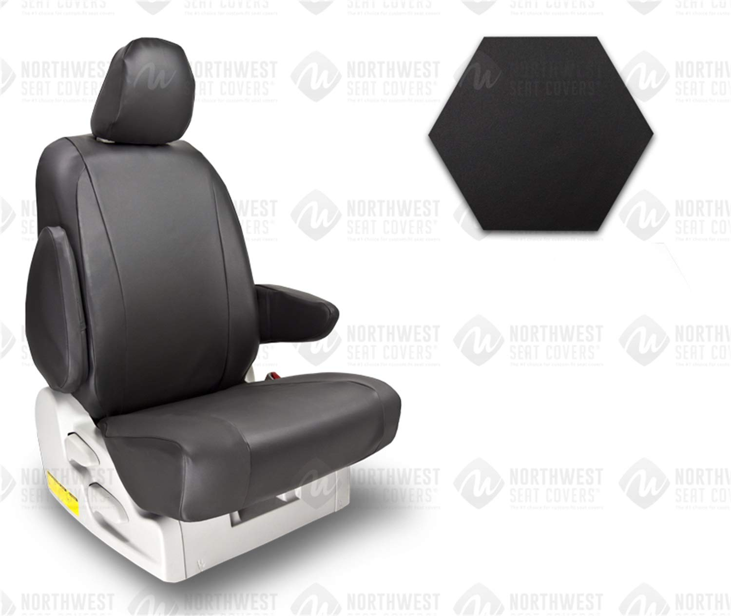 Northwest Seat Covers 1576PR1955 Seat Cover Vinyl Black 40/20/40 Split Bench w/Console w/Mid Cushion Storage Seat Cover