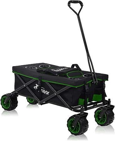 Chariot à main de Transport Pliable Chariot Offroad Remorque á Main Gris SAMAX