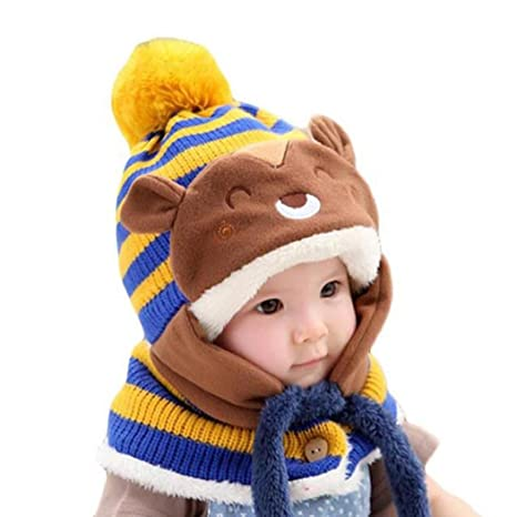 Koly Lindo de invierno bebés de los muchachos Calentar gorros de lana Cofia  de la capilla 862441e63c0