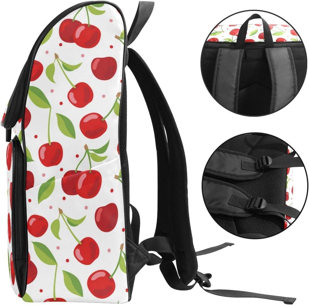 TropicalLife Cute Red Cherry Multipurpose Backpacks College School Bookbag Hiking Travel Casual Daypack