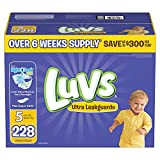 Health & Personal Care : Branded Luvs Ultra Leakguards Diapers - Diaper Size Size 5 - 228 Ct. (Bulk Qty at Whoesale Price, Genuine & Soft Baby diaper)
