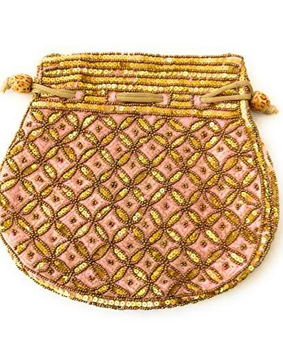 Hand crafted festive zari pouches, (8