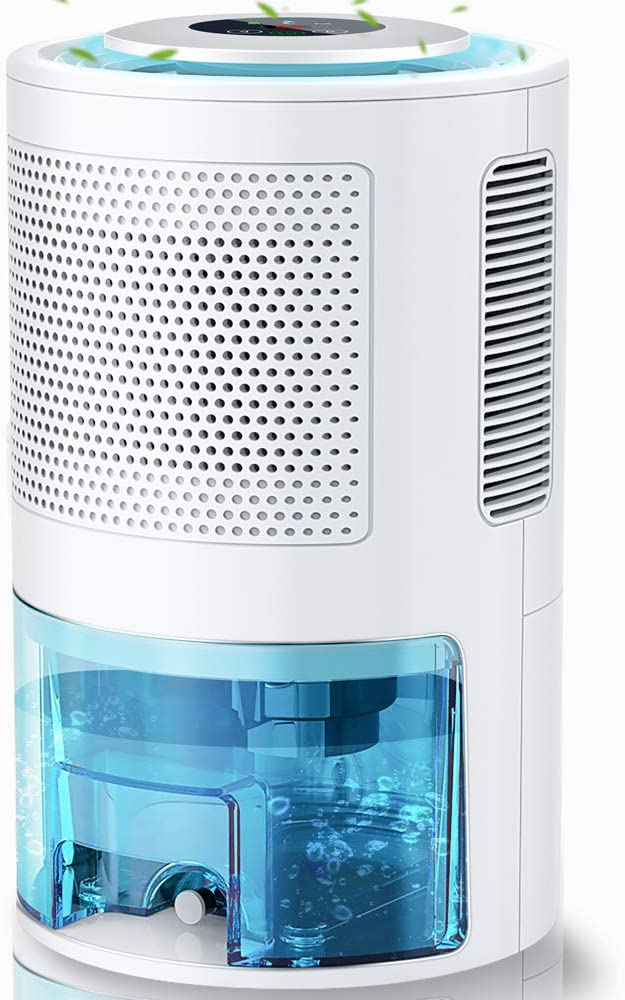 LONOVE Dehumidifiers - Upgraded 5000 Cubic Feet (450 Sq ft) Dehumidifiers for Home Basements Room Bedroom Bathroom Closet Garage RV, 2000ml (68oz) Quiet Auto-off Large Dehumidifiers with Drain Hose