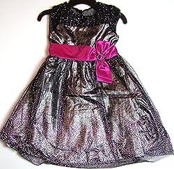 Jona Michelle Girl's Party Dress Black & Pink (12)